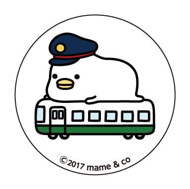 うるせぇトリ 缶バッジA (電車)