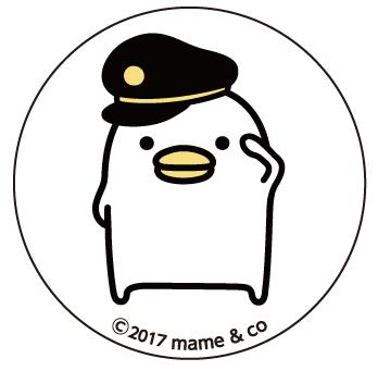 うるせぇトリ 缶バッジD (黒い帽子の車掌)