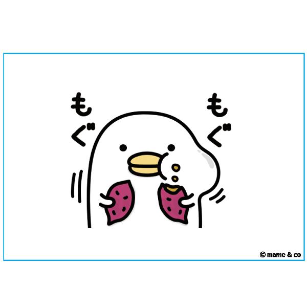 【うるせぇトリキャンバスアート】P3サイズ(横) もぐもぐ