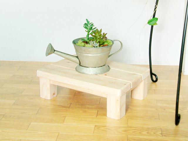 木製便利台「何でものる子ゾウ」(国産檜間伐材100%使用)