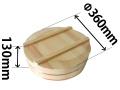 国産天然木 寿司桶(フタ付)36cm(約5合)