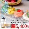 夏野菜を使った三輪素麺(トマト・オクラ・カボチャ)27束 約18人前 ギフト 木箱 色物 新物 誉【配送料無料】