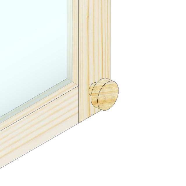 木製ドアハンドル