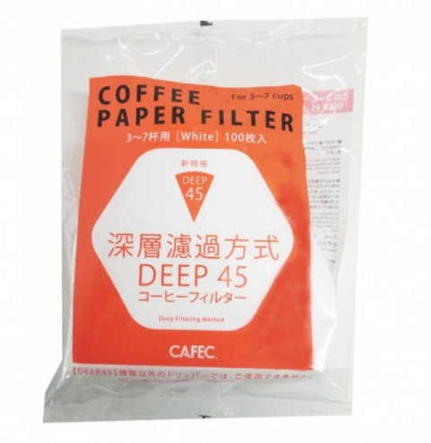 DEEP DRIPPER ディープ45用 コーヒーフィルター 3〜7杯用 wnite 100枚入