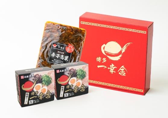 豚骨ラーメン2箱(1食入り)+辛子高菜ギフトセット