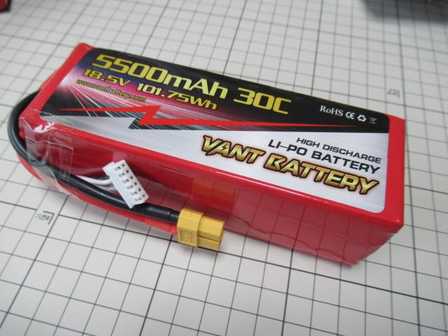 VANT battery5S18.5V5500mAh30c F3A対応