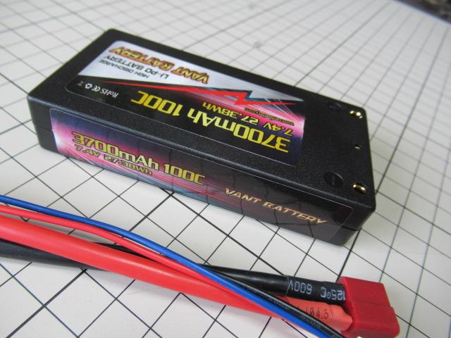 VANT battery LCG カー用リポバッテリー 7.4V 3700mAh 100C ショートタイプ