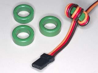 ノイズ フィルターリング4個セット サーボ、ESCケーブル用
