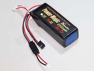 送信機用Li-Poバッテリー11,1V2000mAh