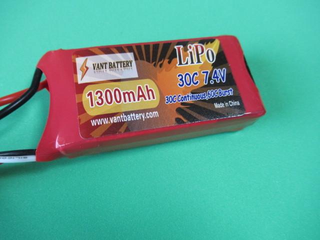 VANT battery、LIPO7,4V 1300mAh 30C