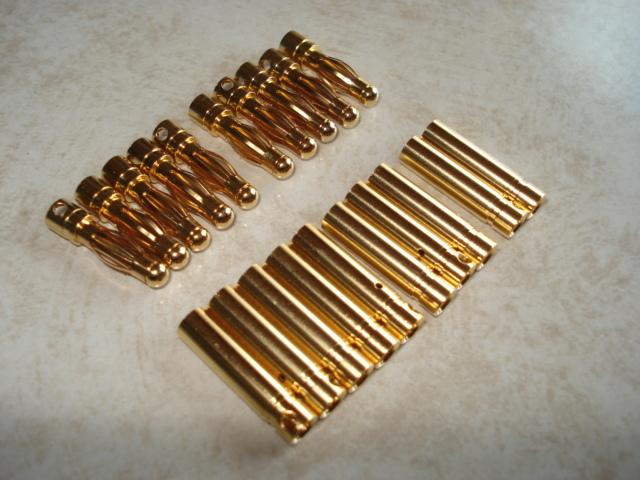 4.0mmゴールドプラグコネクタ10組