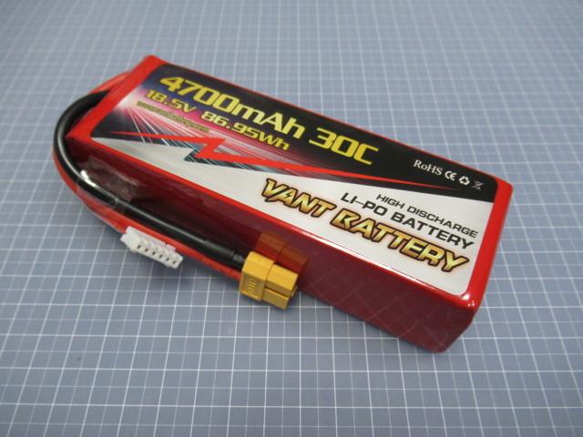 VANT リポバッテリー 5セル 18.5V 4700mAh 30C F3A P21対応 約475g
