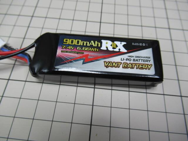 受信機用 LiPo バッテリー 7,4V 900mAh RX VANTbattery