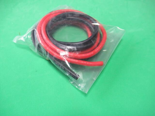 シリコンコード10AWG 10ゲージ 赤1m 黒1m