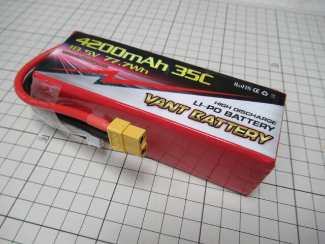 超特価 在庫限り LiPo リポバッテリー 5セル 18,5V 4200mAh 35C