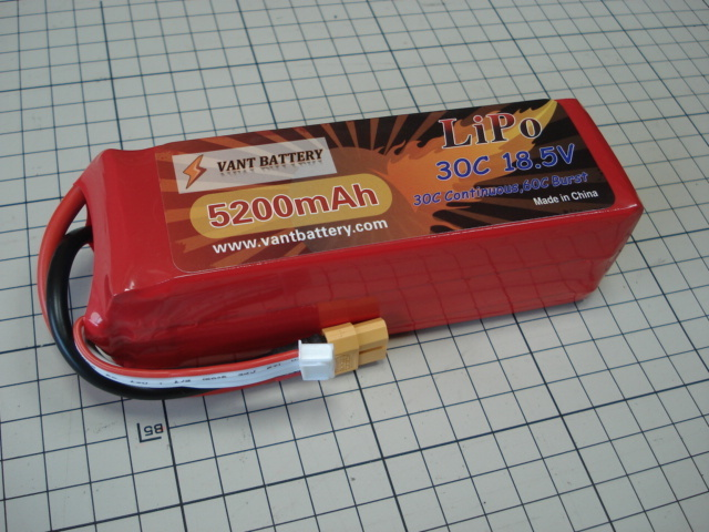 VANT battery LIPO HP 6セル 22.2V 5200mAh 45C