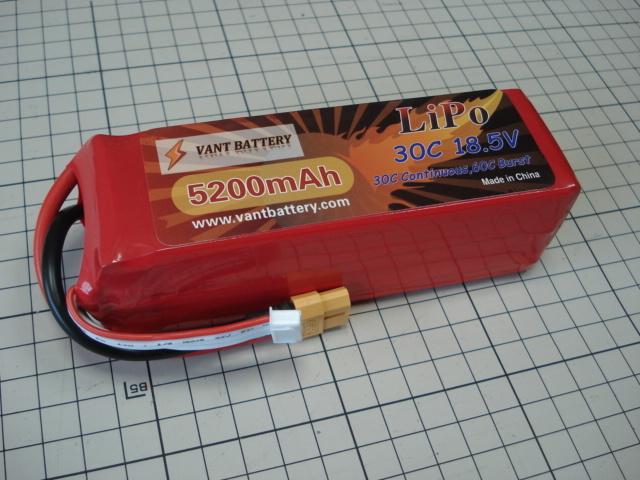VANT battery LIPO 5セル 18.5V 5200mAh 30C F3A対応