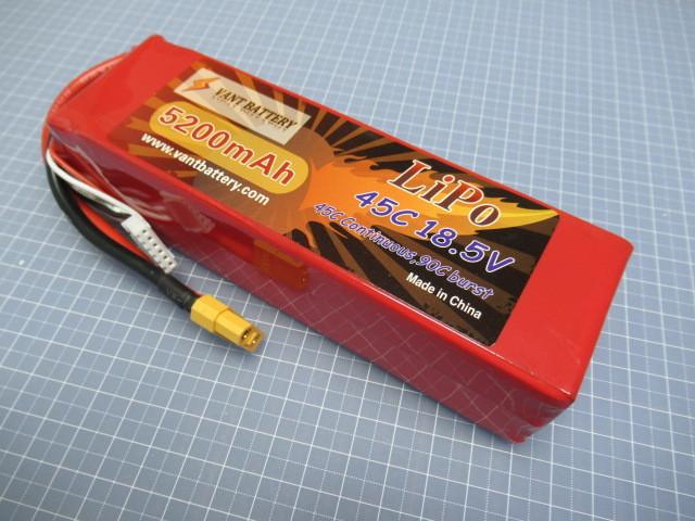 VANT battery 45C LIPO 5セル 18.5V 5200mAh