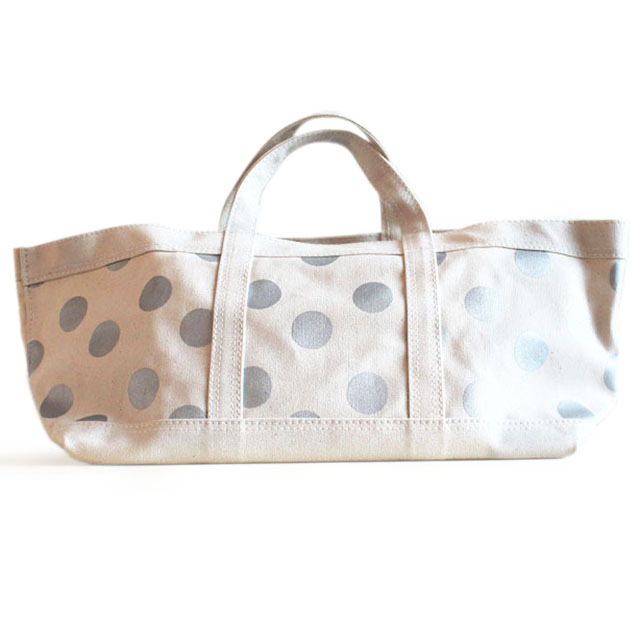 Tote ドット(silver) 小
