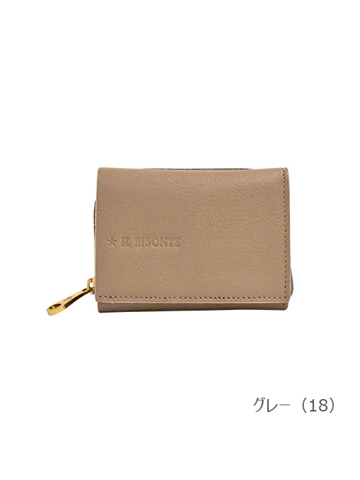 IL BISONTE イルビゾンテ【54212306640 折財布】グレー