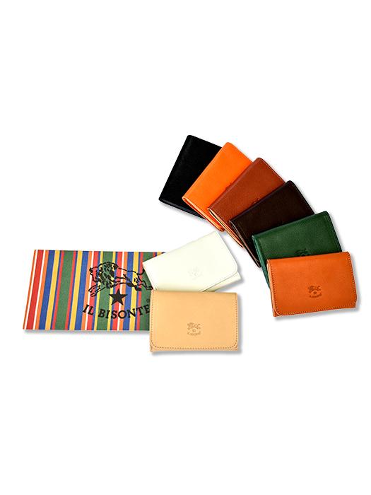 イルビゾンテ【カードケース/名刺入】。シンプルなデザインが人気。