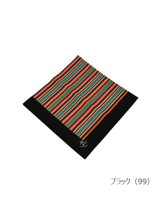 イルビゾンテ【バンダナ(ストライプ) 411671】ブラック