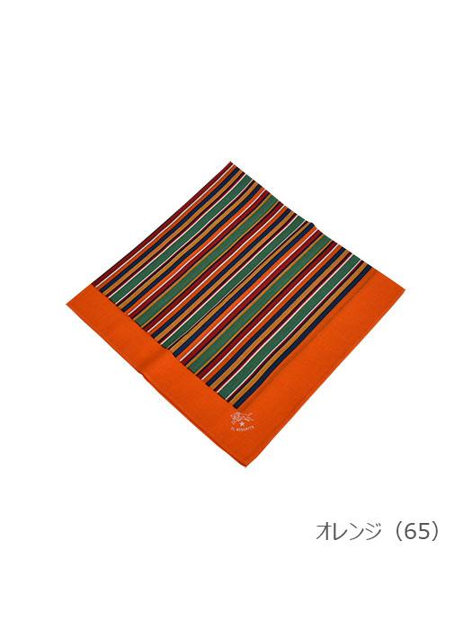 イルビゾンテ【バンダナ(ストライプ) 411671】オレンジ