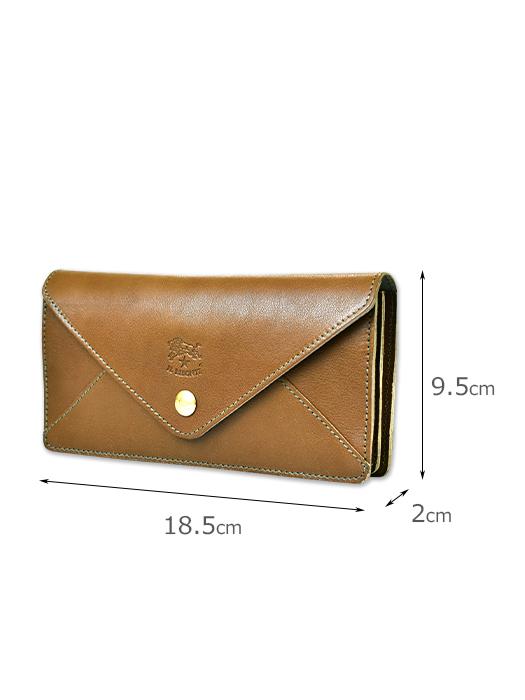 イルビゾンテ【長財布】サイズ。収納力のある長財布。