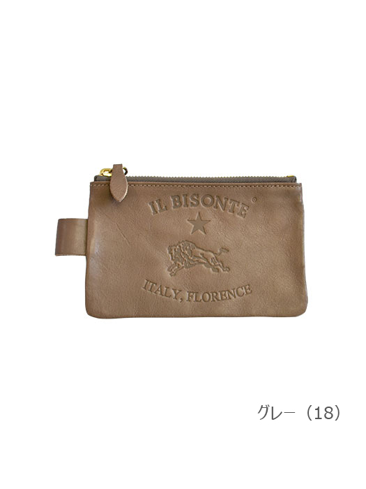 IL BISONTE イルビゾンテ【ポーチ 54162304295】グレー