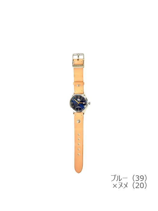 IL BISONTE イルビゾンテ【5422315097 腕時計】ブルー×ヌメ