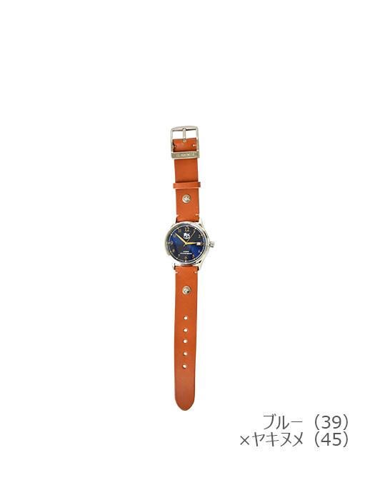 IL BISONTE イルビゾンテ【5422315097 腕時計】ブルー×ヤキヌメ