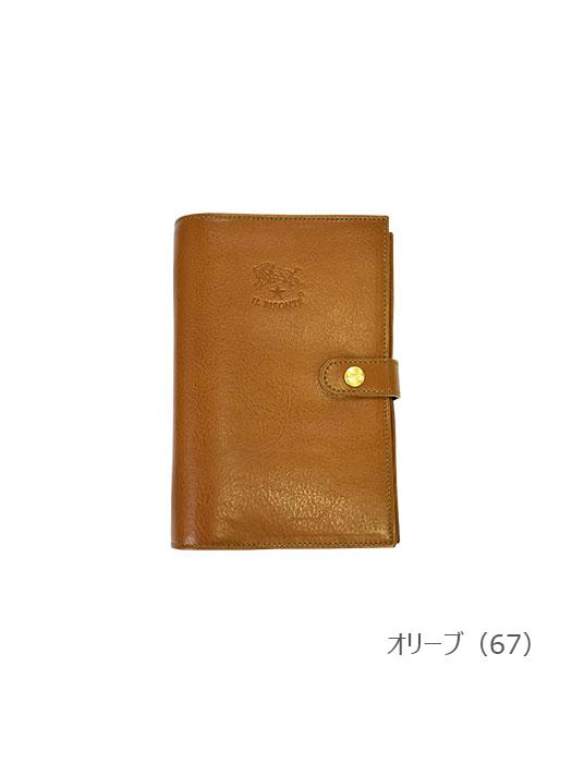 IL BISONTE イルビゾンテ【411463 手帳】オリーブ