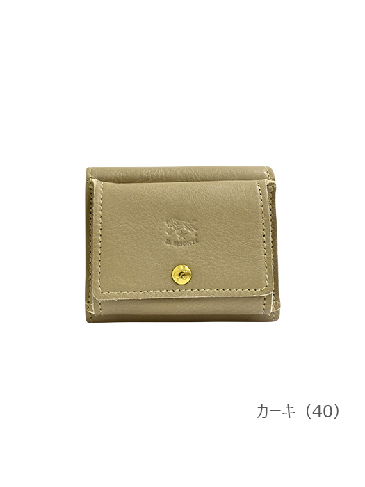 IL BISONTE イルビゾンテ【折財布 54202305040】 カーキ