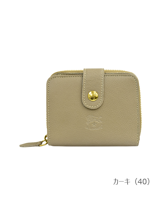 IL BISONTE イルビゾンテ【折財布 54202305140】カーキ