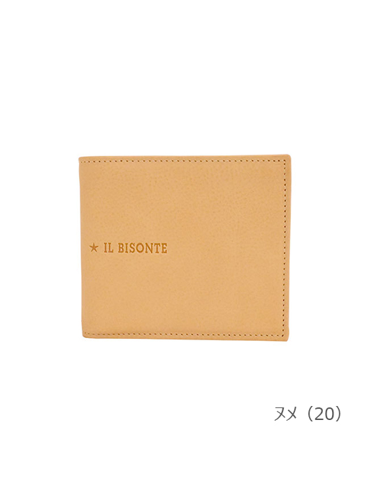 IL BISONTE イルビゾンテ【54212306740 折財布】ヌメ