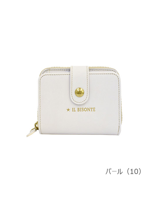 IL BISONTE イルビゾンテ【54212307140 折財布】パール
