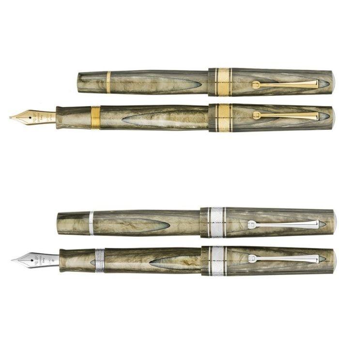 レオナルド 限定生産品 カプサイド オリーブグリーン (ゴールド/ロジウムトリム) 万年筆
