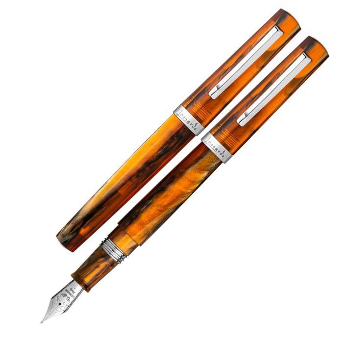 レオナルド 限定生産品 メッセンジャーコレクション カラメル 万年筆