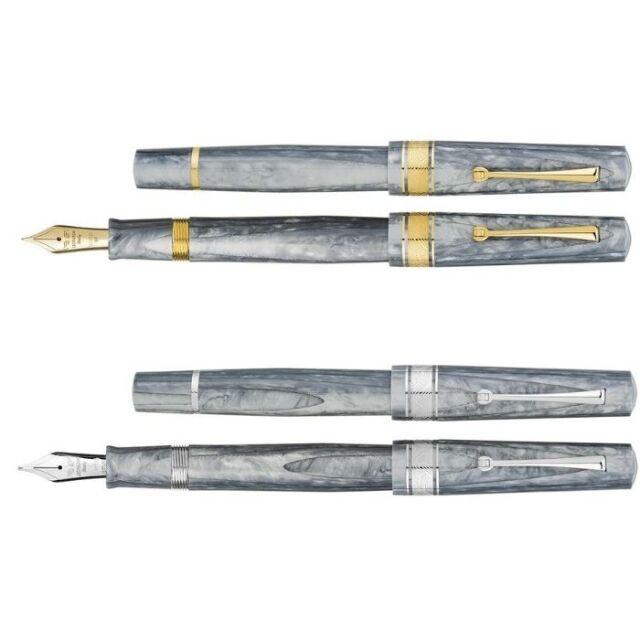レオナルド 限定生産品 カプサイド ミネラルグレイ (ゴールド/ロジウムトリム) 万年筆