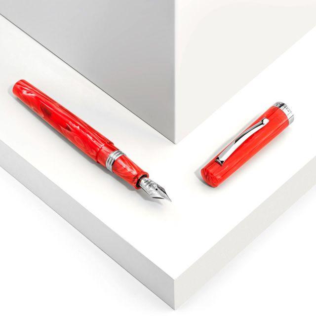 レオナルド 限定生産品 メッセンジャーコレクション レッド 万年筆