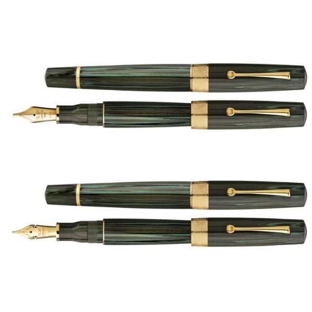 レオナルド 限定生産品 スペランツァ グリーンマスク ゴールドトリム 万年筆