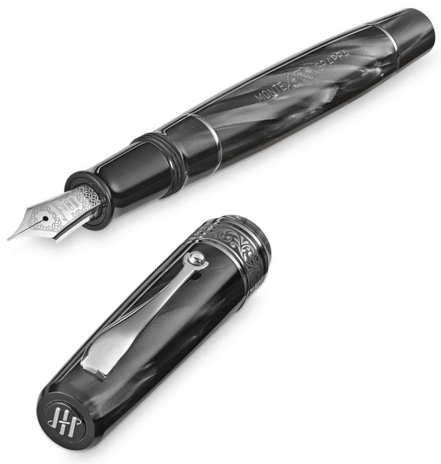 モンテグラッパ 限定生産品 アンミラーリョ1942 チャコール 万年筆