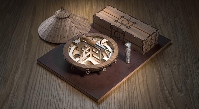 モンテグラッパ 限定生産品 レオナルドダヴィンチ 万年筆 ボックス