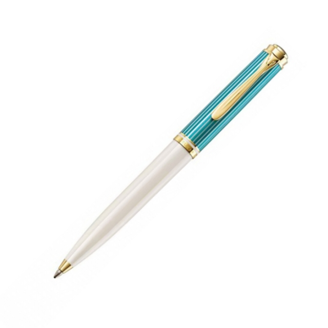 ペリカン K600 限定品 ターコイズ ホワイト ボールペン