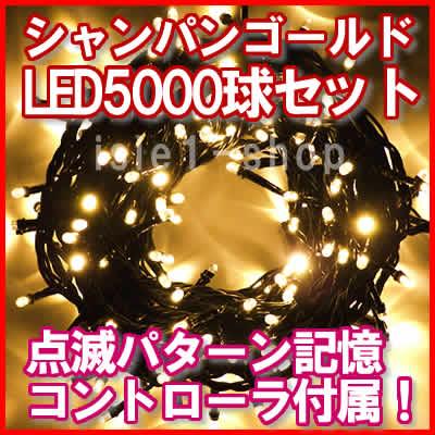 新LEDイルミネーション電飾5000球シャンパン