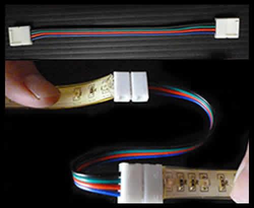 テープライト5m【RGB】専用 フレキシブルソケット