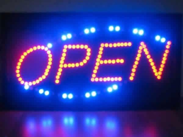 高彩度LED電飾看板 「OPEN」幅48cm