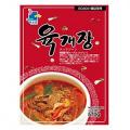 【韓国のユッケジャン、野菜と牛肉の細切りを、粉とうがらしで味つけして煮込んだ激辛スープ。スタミナ料理としても人気です】 570g