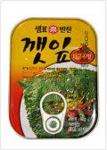 [泉標] エゴマの葉キムチ缶〈辛口〉 (90g)
