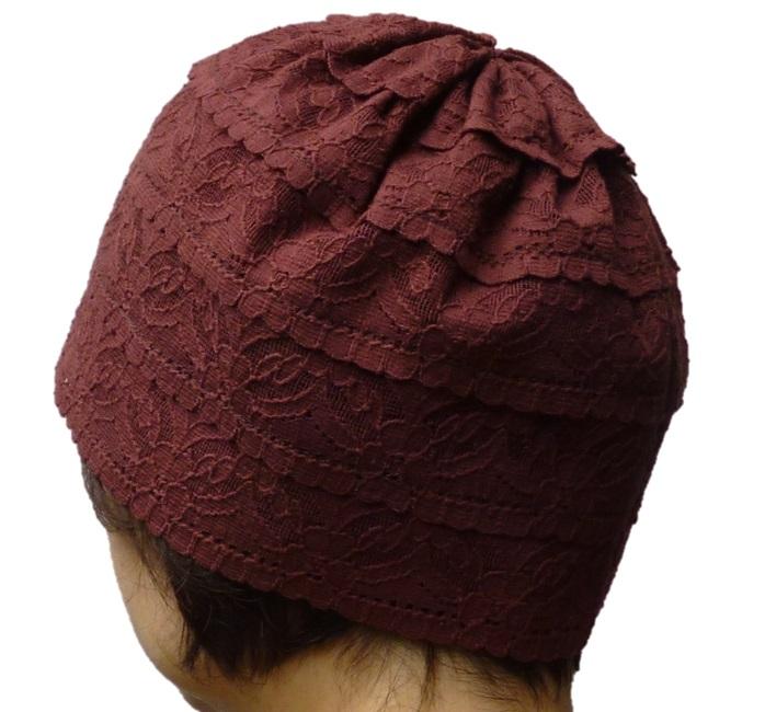 おしゃれヘアキャップ【天使の帽子】15001綿レースで仕上げたレトロな味わい